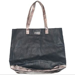 Jimmy Choo Parfumes black & rose gold large tote